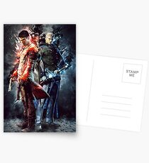 DmC Devil May Cry Twin brothers Postcards