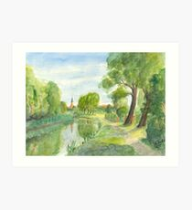 Templiner Kanal - Uckermark Kunstdruck