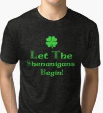 St Patrick's Day Shenanigans Irish Tri-blend T-Shirt