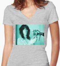 Patti Smith - Tee Print Women's Fitted V-Neck T-Shirt