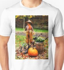 Scarecrow and Pumpkin Unisex T-Shirt