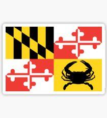 Maryland Crab Flag Sticker