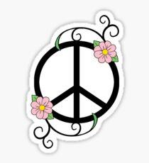 Peace, Daisy, Swirl Illustration Sticker