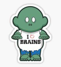 I <3 Brains Sticker