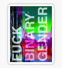 Fuck Binary Gender -- Translucent Text Sticker