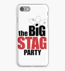 the Big Stag Party - black iPhone Case/Skin