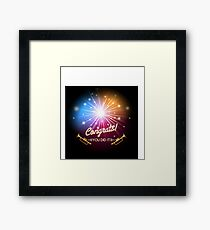 Congrats Fireworks Framed Print