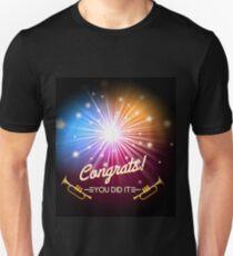 Congrats Fireworks Unisex T-Shirt