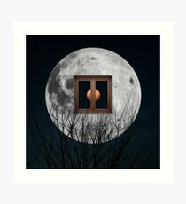 Windows Moon Art Print