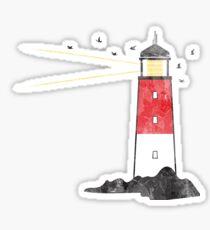 Abgenutzter Leuchtturm Sticker