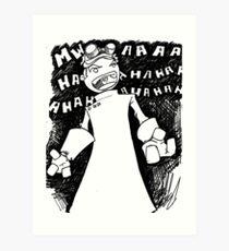 Doctor Horrible - Non Transparent Evil Laugh Art Print