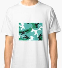 Turquoise Camouflage Classic T-Shirt