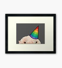 Blobfish party animal Framed Print
