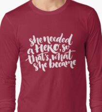 Feminism quote Long Sleeve T-Shirt