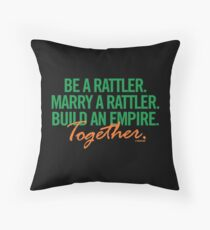 Marry a Rattler Collection by Graphic Snob® Throw Pillow