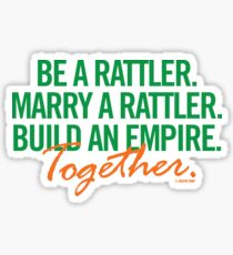 Marry a Rattler Collection by Graphic Snob® Sticker