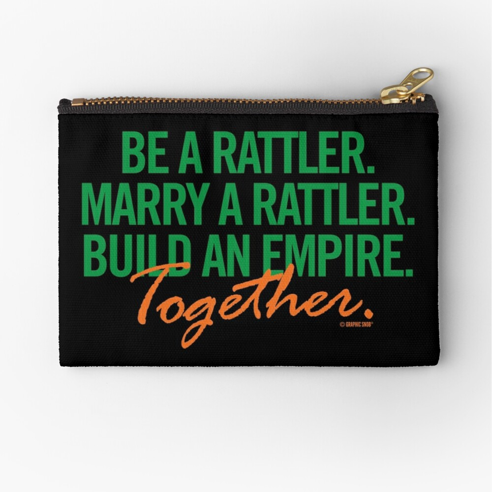 Marry a Rattler Collection by Graphic Snob® Zipper Pouch