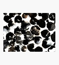 Black ink circles Photographic Print