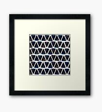 Ink triangles Framed Print