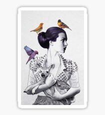 Woman with Animals  Sticker