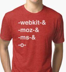 Web Browser Prefixing Tri-blend T-Shirt