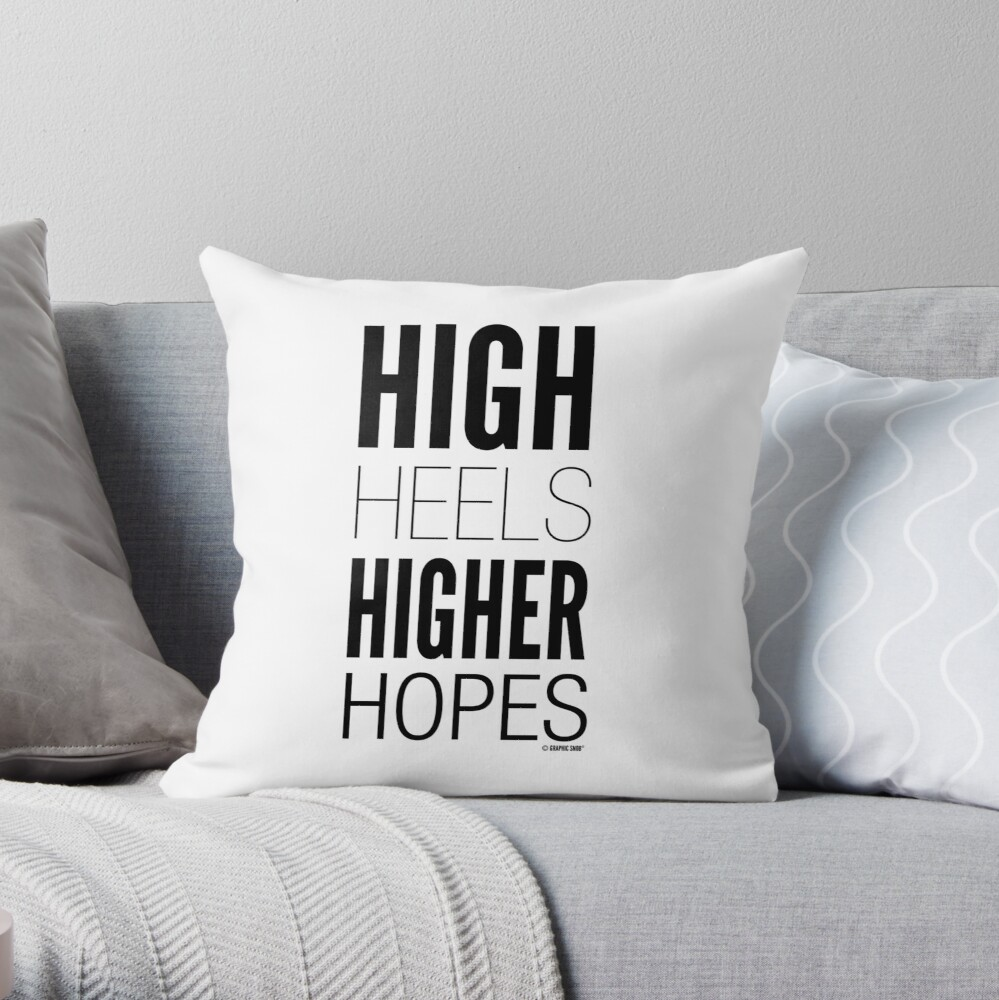 High Hopes Collection by Graphic Snob® Throw Pillow