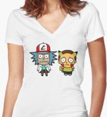 Rick and Mortychu Women's Fitted V-Neck T-Shirt