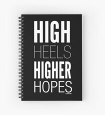 Dark High Hopes Collection by Graphic Snob® Spiral Notebook