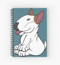 Mini Bull Terrier Lola  Spiral Notebook