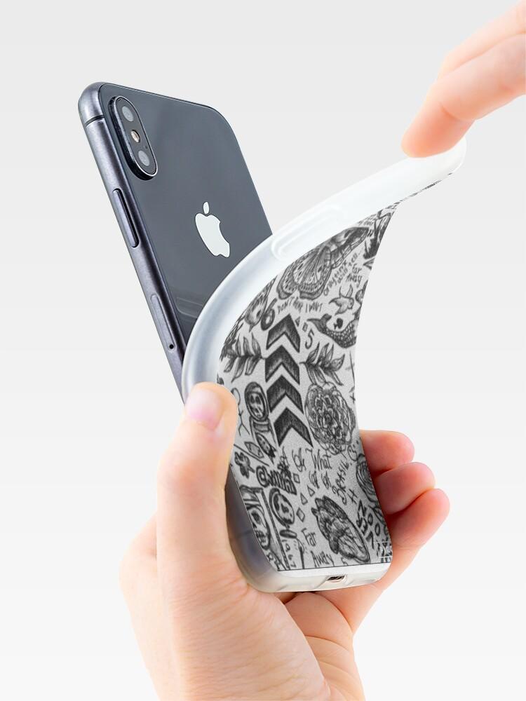 Alternative Ansicht von 1D Tattoo Telefon Fall iPhone-Hüllen & Cover