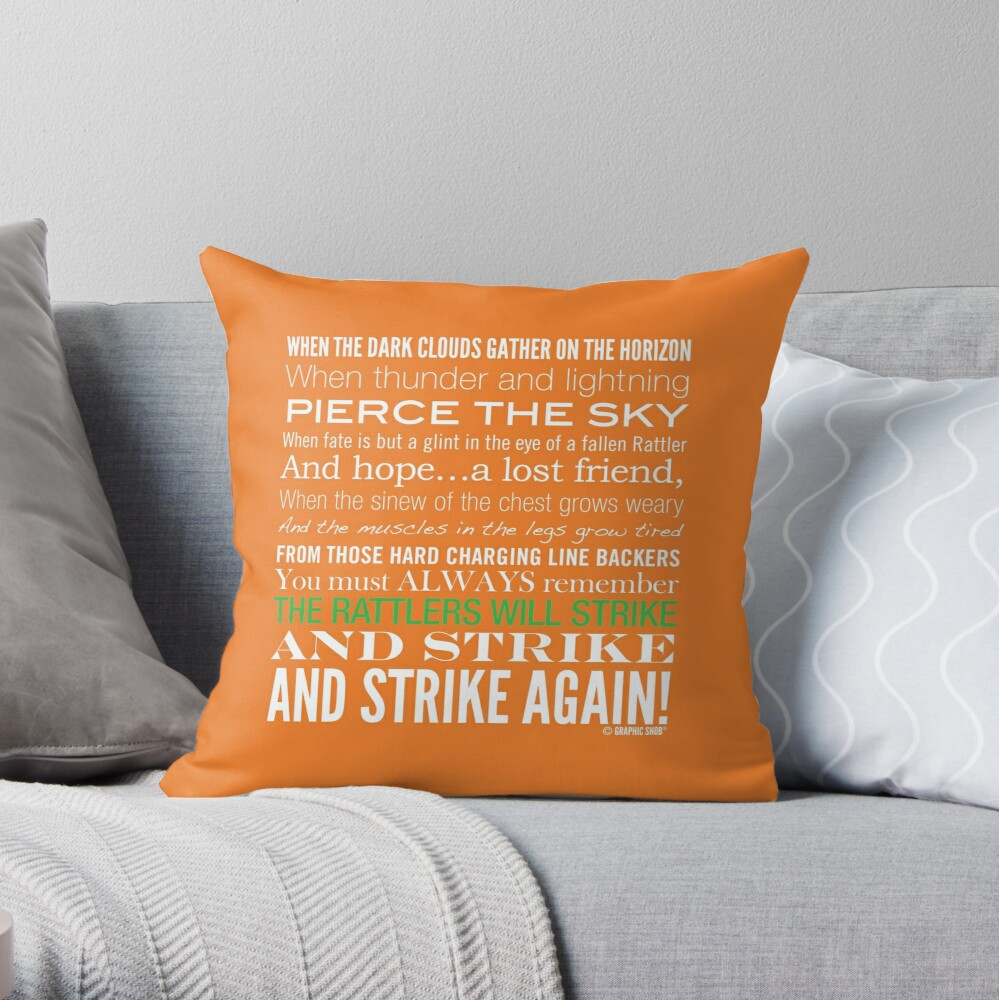 Green Strike Collection by Graphic Snob® Throw Pillow