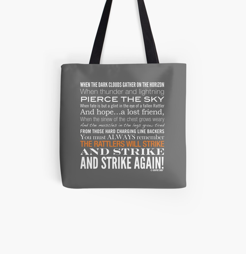 Orange Strike Collection by Graphic Snob® All Over Print Tote Bag