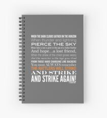 Orange Strike Collection by Graphic Snob® Spiral Notebook