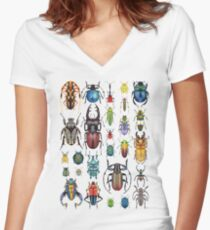 Beetle Collection Women's Fitted V-Neck T-Shirt