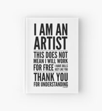 I Am an Artist Collection by Graphic Snob® Hardcover Journal