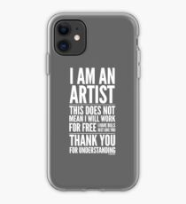 I Am an Artist Collection by Graphic Snob® iPhone Case