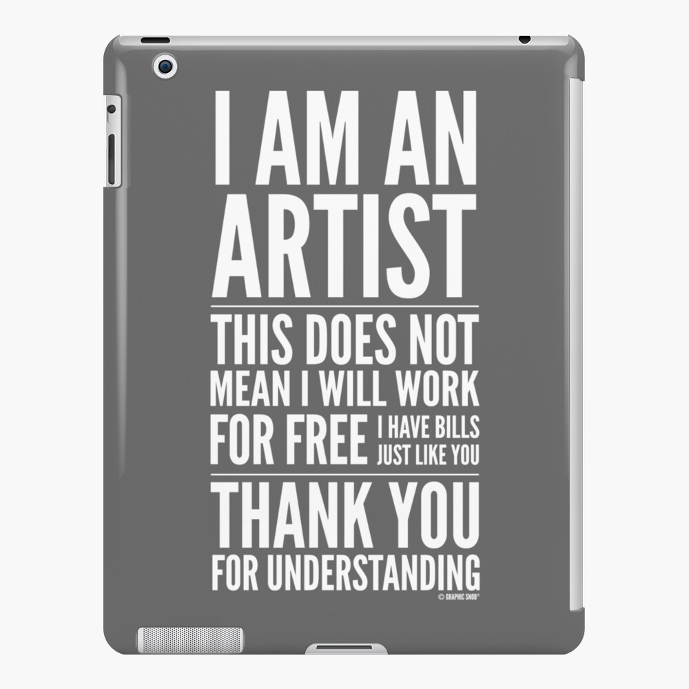I Am an Artist Collection by Graphic Snob® iPad Snap Case