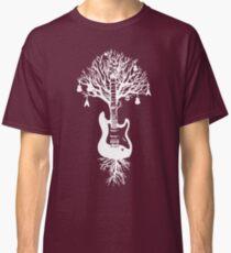 Nature Guitar White Tree Music Banksy Art Classic T-Shirt