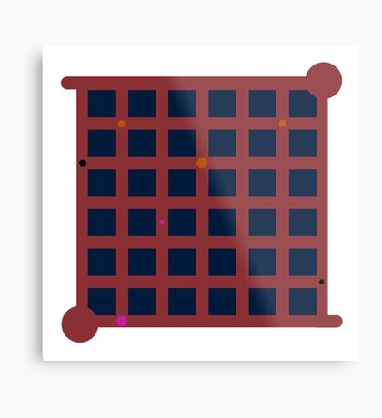 The Witness Red Ship Door Metal Print