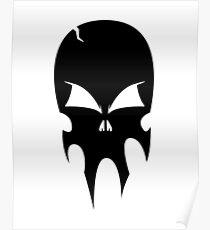 Skull - version 1 - black Poster