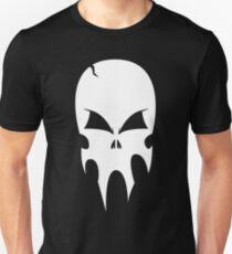 Skull - version 2 - white Unisex T-Shirt