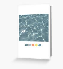 Water Aesthetic  Greeting Card