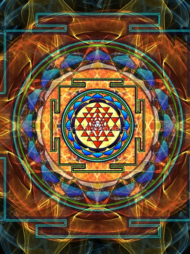 The Sri Yantra - Sacred Geometry by art-by-angels