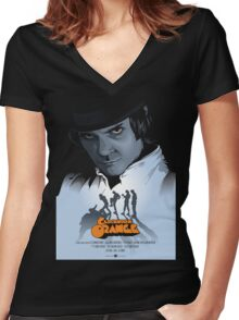 Clockwork Orange Women's Fitted V-Neck T-Shirt