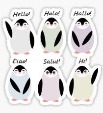 Happy pinguins  Sticker