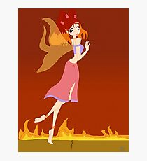 Fire Fairy Drawing - (Designs4You)  Photographic Print