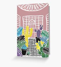 Cacti & Succulent Greenhouse Greeting Card