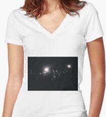 6th Street Bridge Drama Women's Fitted V-Neck T-Shirt