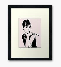 Audrey Hepburn - an icon Framed Print