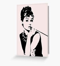 Audrey Hepburn - an icon Greeting Card